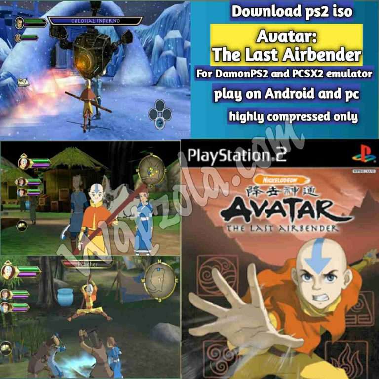 [Download] Avatar: The Last Airbender DamonPS2 and PCSX2 emulator – PS2 APK ISO ROM highly compressed play Android and pc