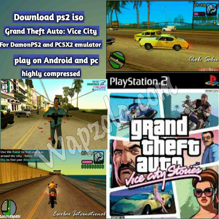 [Download] Grand Theft Auto: Vice City DamonPS2 and PCSX2 emulator – PS2 APK ISO ROM highly compressed play Android and pc