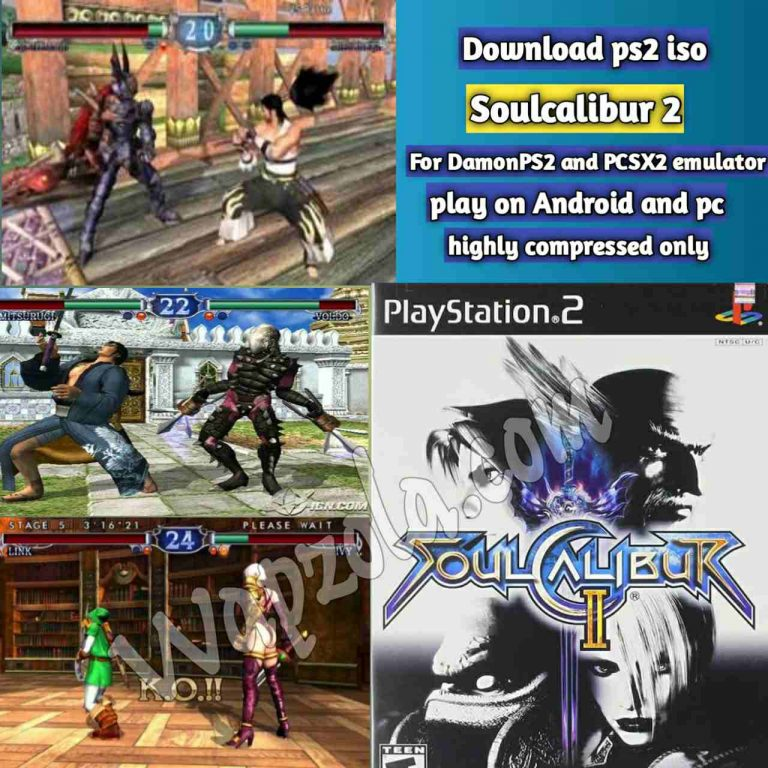 [Download] Soulcalibur 2 DamonPS2 and PCSX2 emulator – PS2 APK ISO ROM highly compressed play Android and pc