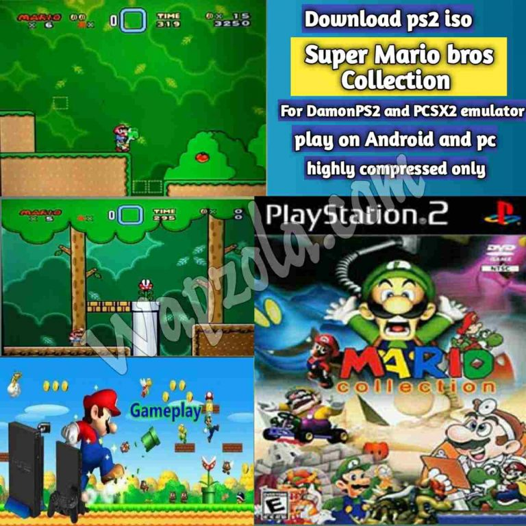 [Download] Super mario bros collection DamonPS2 and PCSX2 emulator – PS2 APK ISO ROM highly compressed play Android and pc