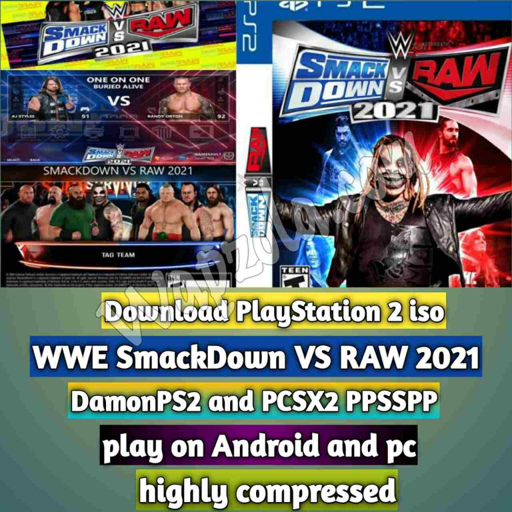wwe_2021_ps2_pcsx2_damonps2_emulator_smackdown_raw