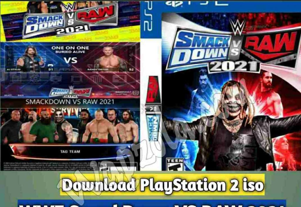 [Download] WWE SmackDown VS RAW 2021 DamonPS2 and PCSX2 PPSSPP emulator – PS2 APK ISO ROM highly compressed play Android and pc 14