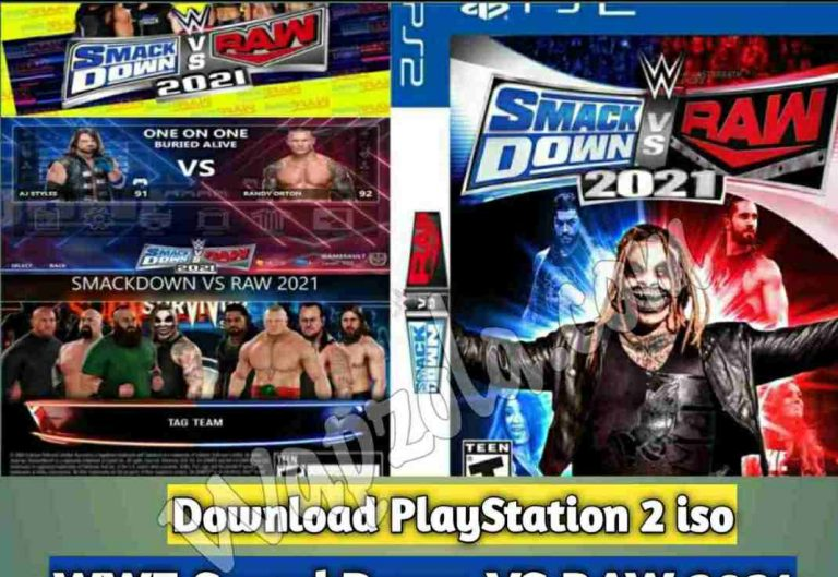 [Download] WWE SmackDown VS RAW 2021 DamonPS2 and PCSX2 PPSSPP emulator – PS2 APK ISO ROM highly compressed play Android and pc