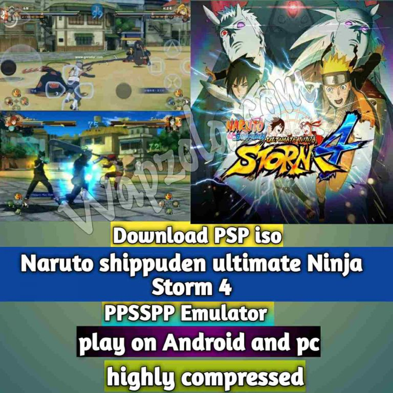 [Download] Naruto shippuden ultimate Ninja Storm 4 Mod iso ppsspp emulator – PSP APK Iso Rom highly compressed 800MB