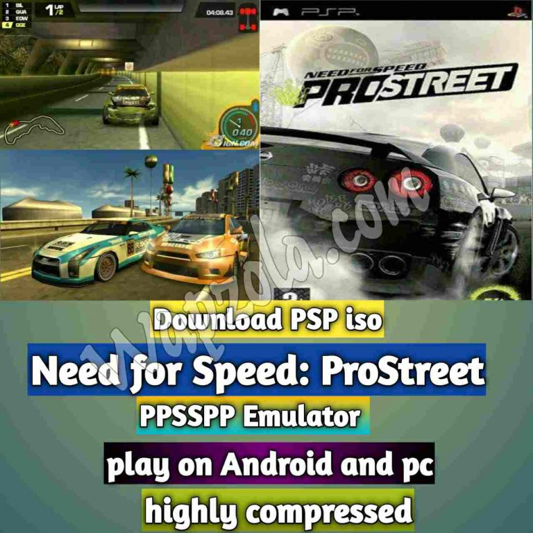 [Download] Need for Speed: ProStreet iso ppsspp emulator – PSP APK Iso ROM highly compressed 130MB