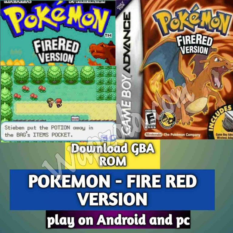 [Download] POKEMON – FIRE RED VERSION (V1.1) VGBAnext and Visual Boy Advance emulator – GBA APK ROM Zip and Save Files play Android and pc
