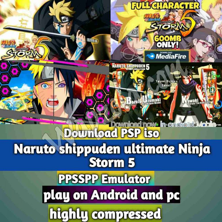 Naruto shippuden ultimate Ninja Storm 5 Mod iso ppsspp emulator – PSP APK Iso Rom highly compressed 600MB