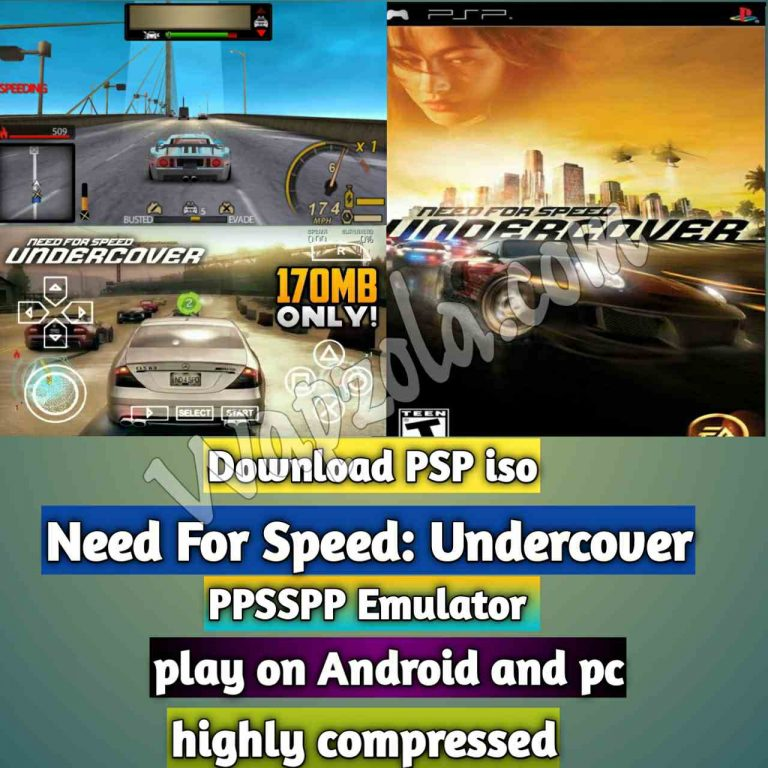 [Download] Need For Speed: Undercover iso ppsspp emulator – PSP APK Iso ROM highly compressed 200MB