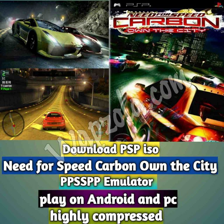 [Download] Need for Speed Carbon Own the City iso ppsspp emulator – PSP APK Iso ROM highly compressed 50MB