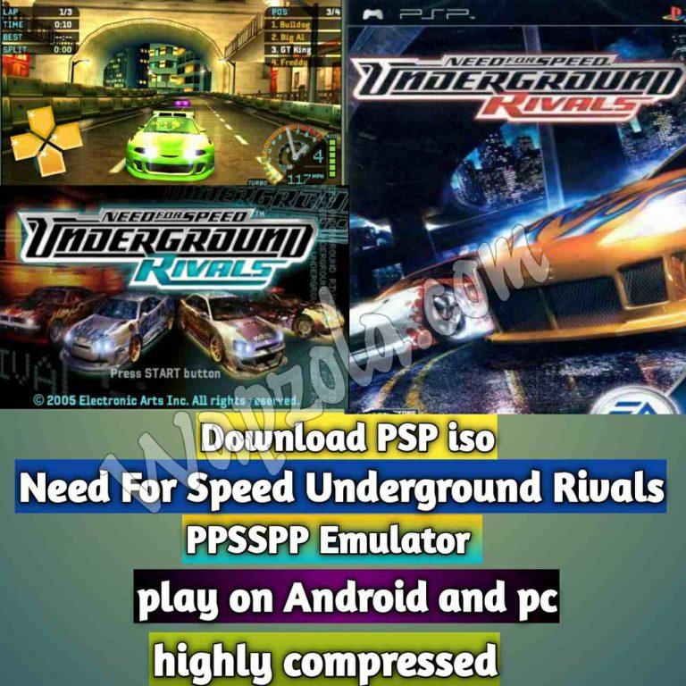 [Download] Need For Speed Underground Rivals iso ppsspp emulator – PSP APK Iso ROM highly compressed 170MB
