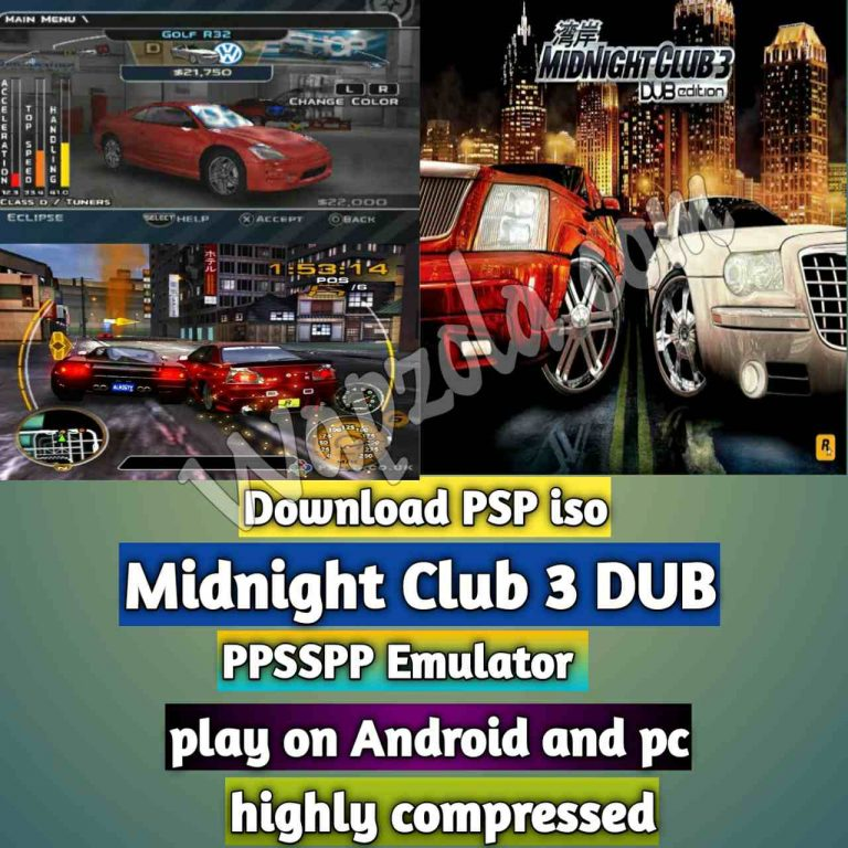 [Download] Midnight Club 3 (DUB Edition) iso ppsspp emulator – PSP APK Iso ROM highly compressed 300MB